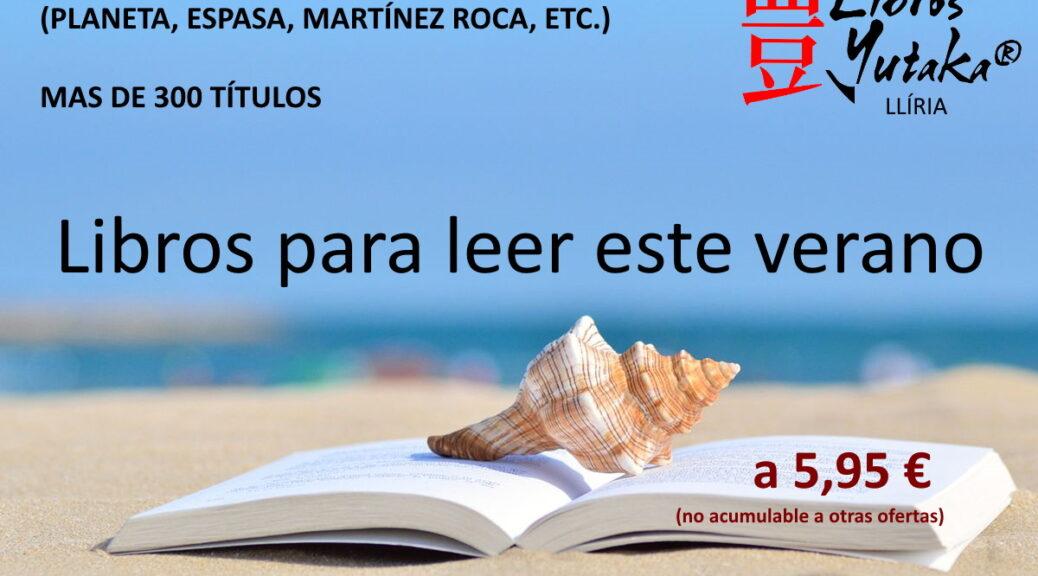 Oferta de libros para el verano